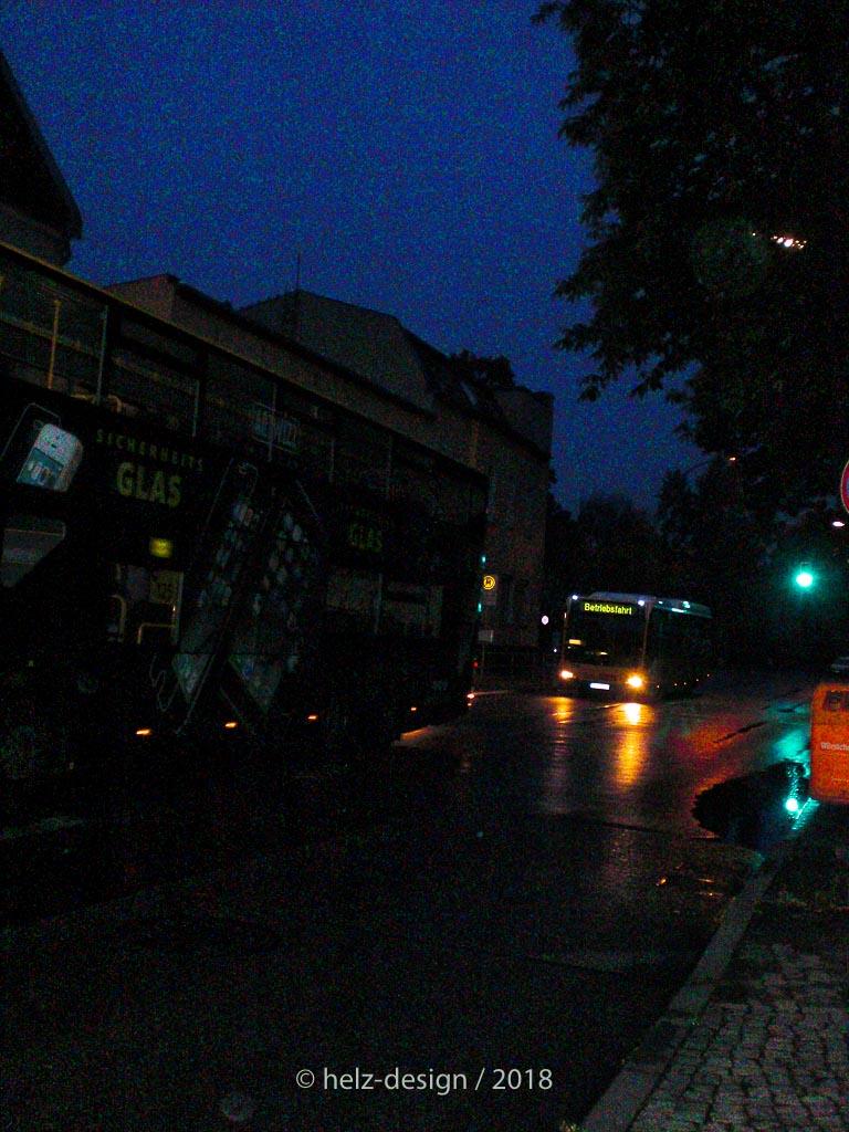 Nächtlicher Bus in Hermsdorf