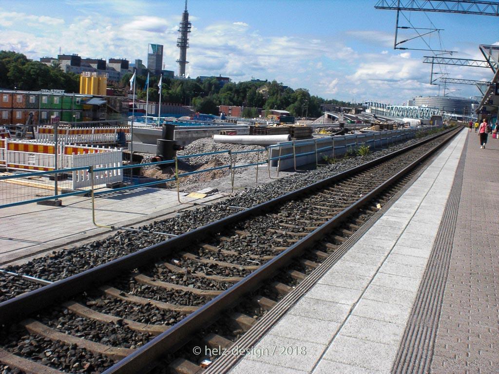 Bauen in Pasila … rechts der Turm ist der Turm von YLE