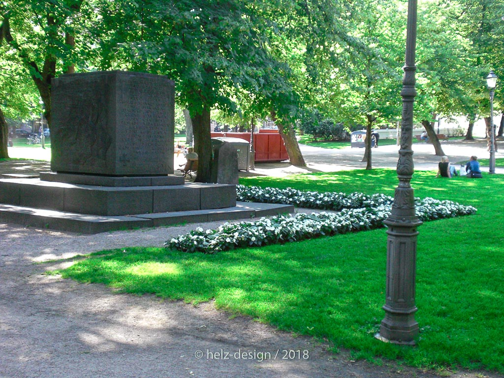 Helsingin valtauksessa kaatuneiden saksalaisten muistomerkki  Denkmal für die 54 gefallenen Deutschen im Bürgerkrieg 1918