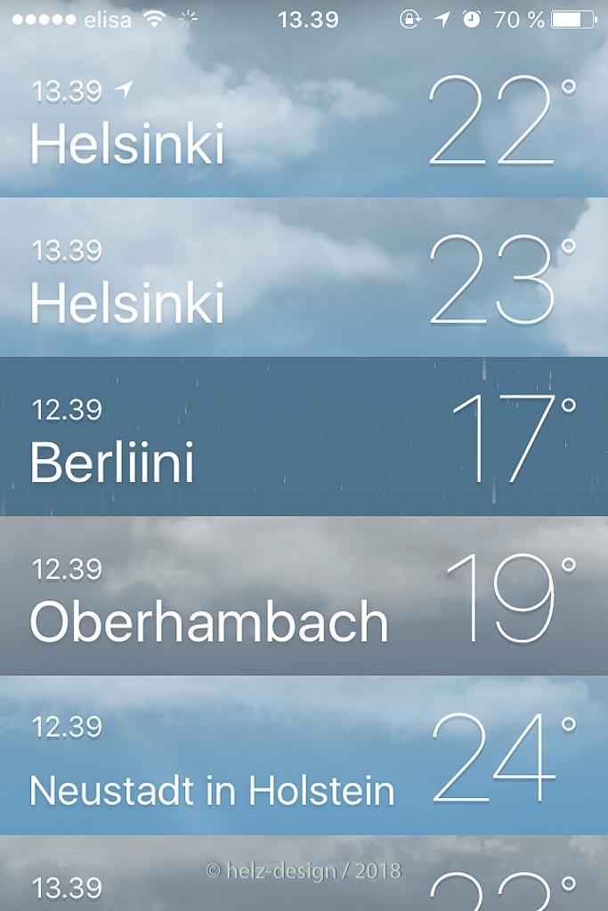 es wir warm in Helsinki