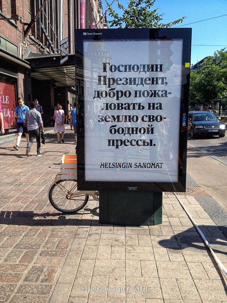 Ob auch Putin im Land der freien Presse begrüßt wurde?