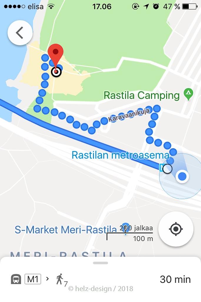 Routenplaner zum Strand