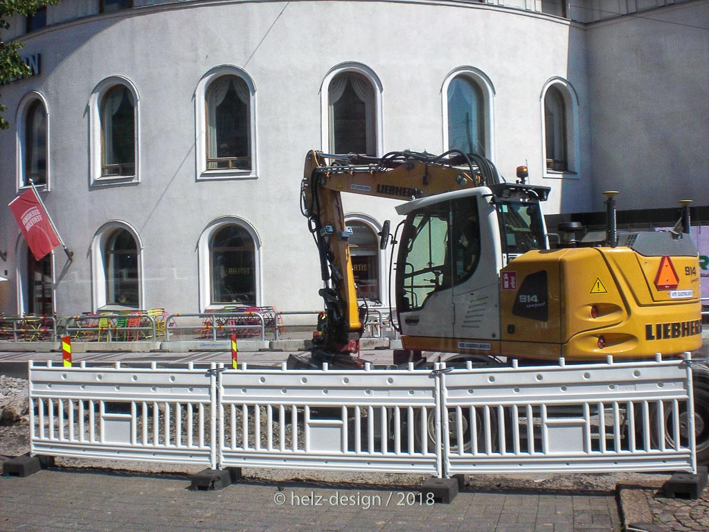 Svenksa Teattern  mit Bausstelle