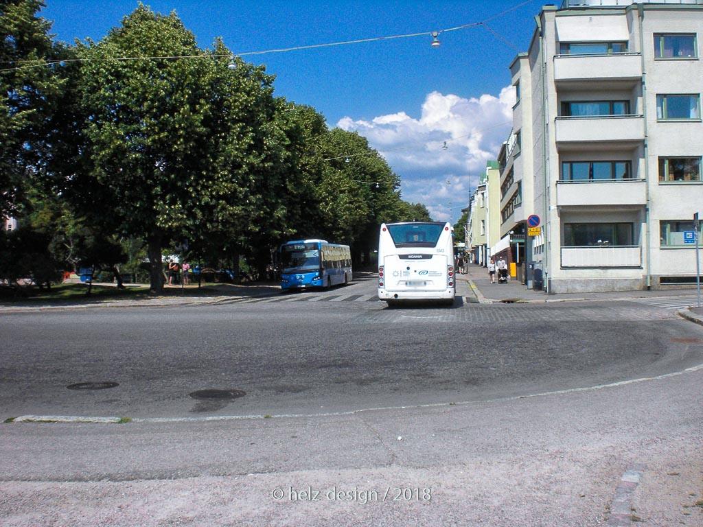 Busse für die neue Bushaltestelle