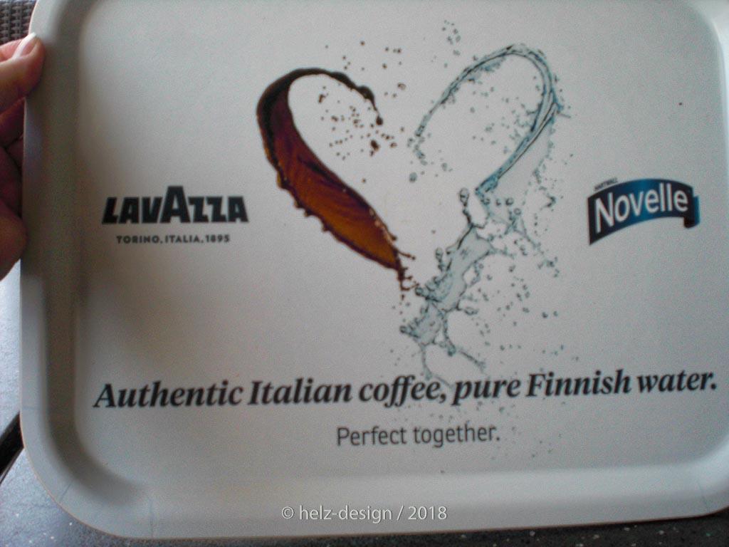 Kaffee trifft Wasser oder Italien auf Finnland