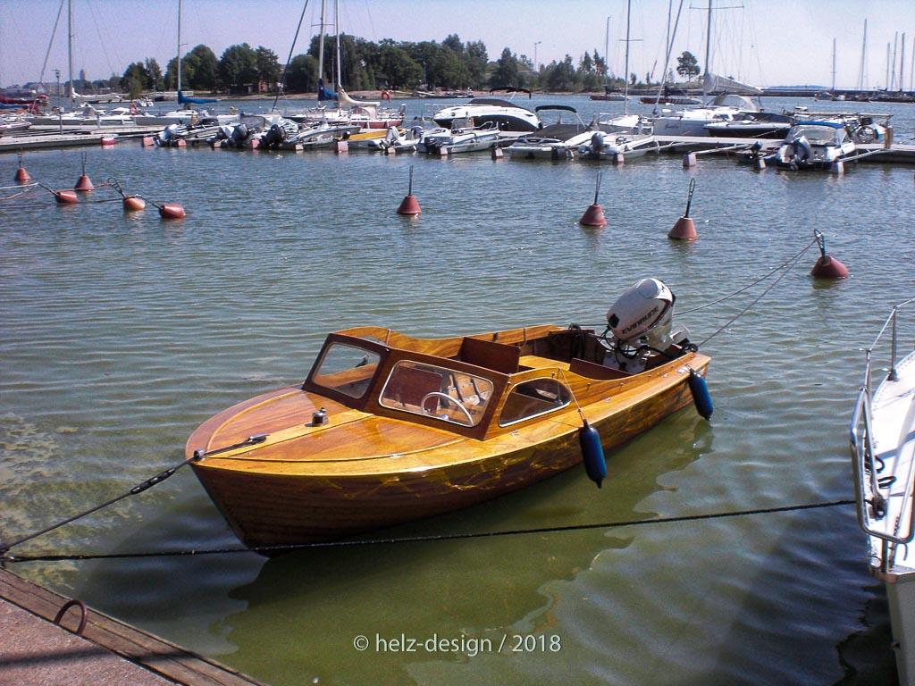 Holzboot – finde ich süß