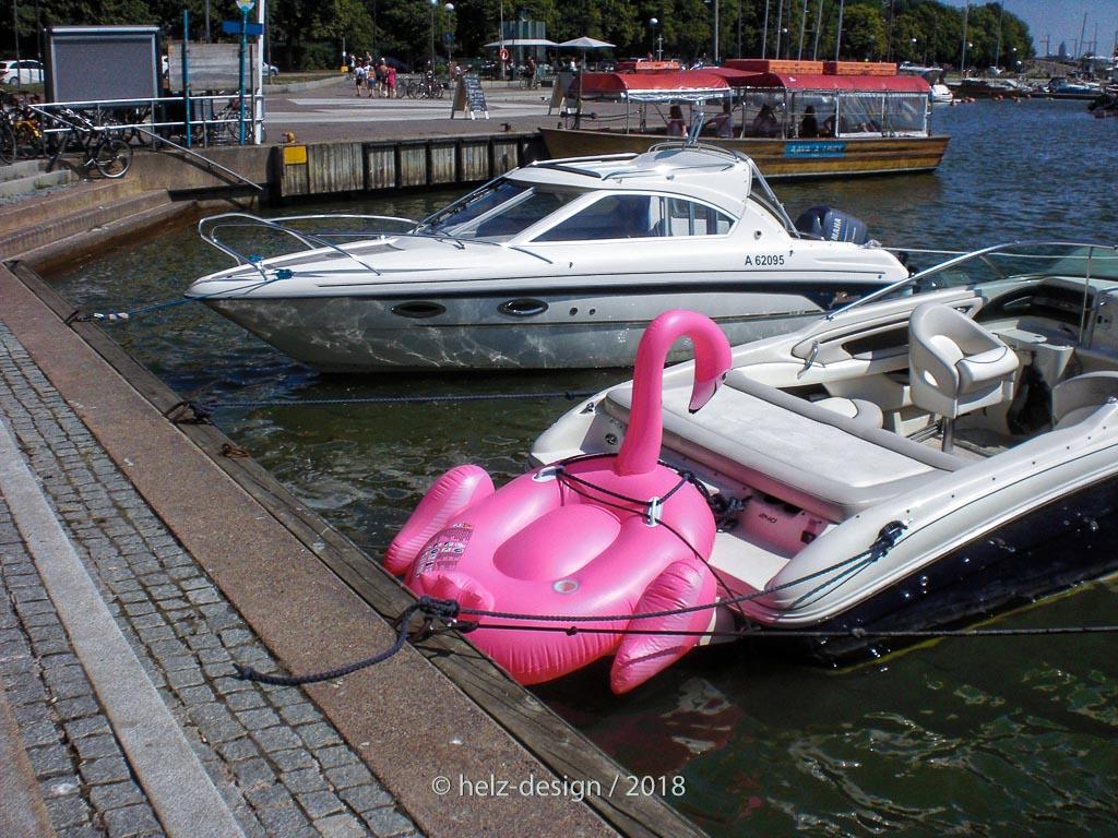 Flamingo am Heck