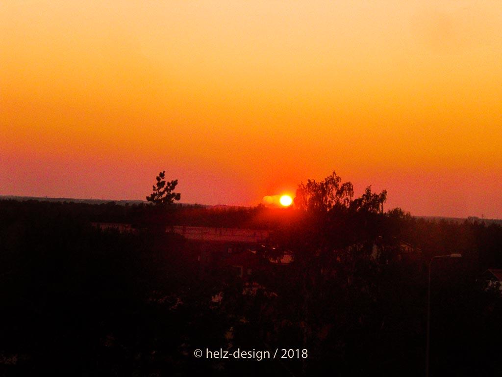 Sonnenuntergang über Jakomäki