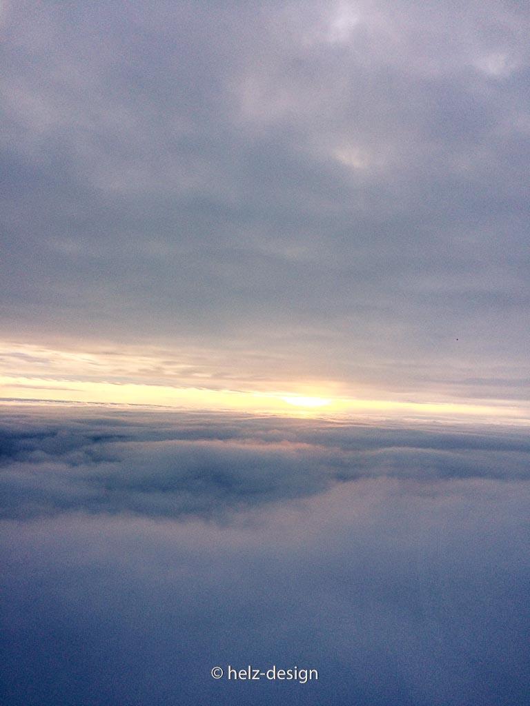 die Wolken kommen wieder näher –Landeanflug