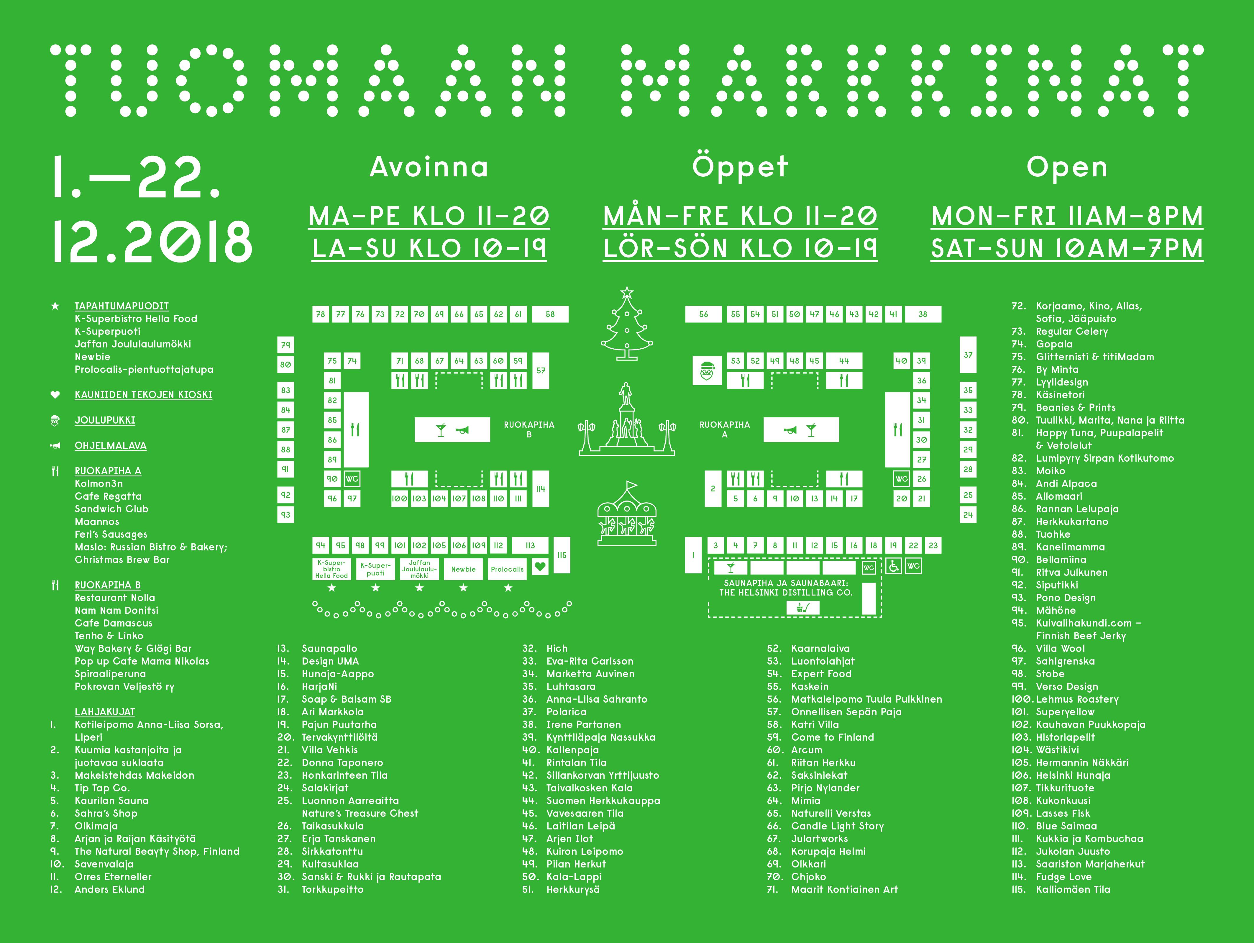 Weihnachtsmarktplan