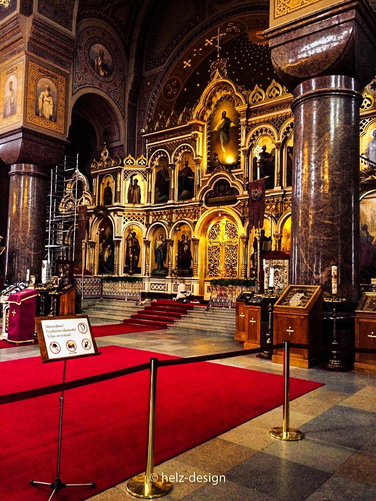 Granitsäulen und Altar