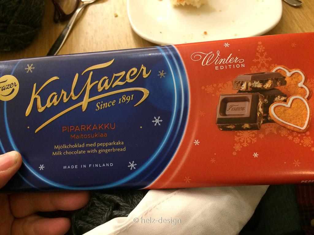 Weihnachtsschokolade von Fazer