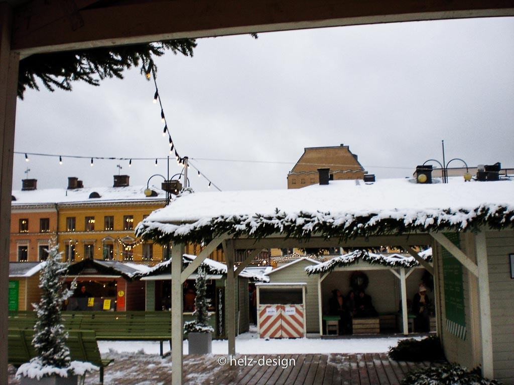 Schneebedeckte Dächer