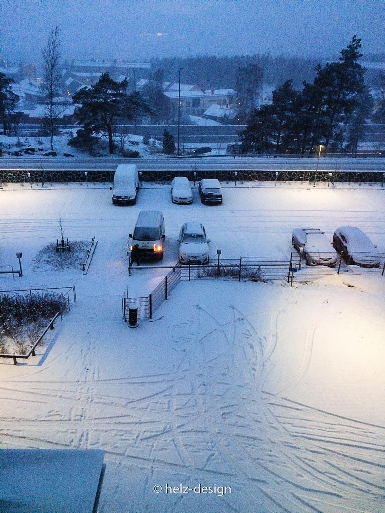 ein paar Spuren im Schnee