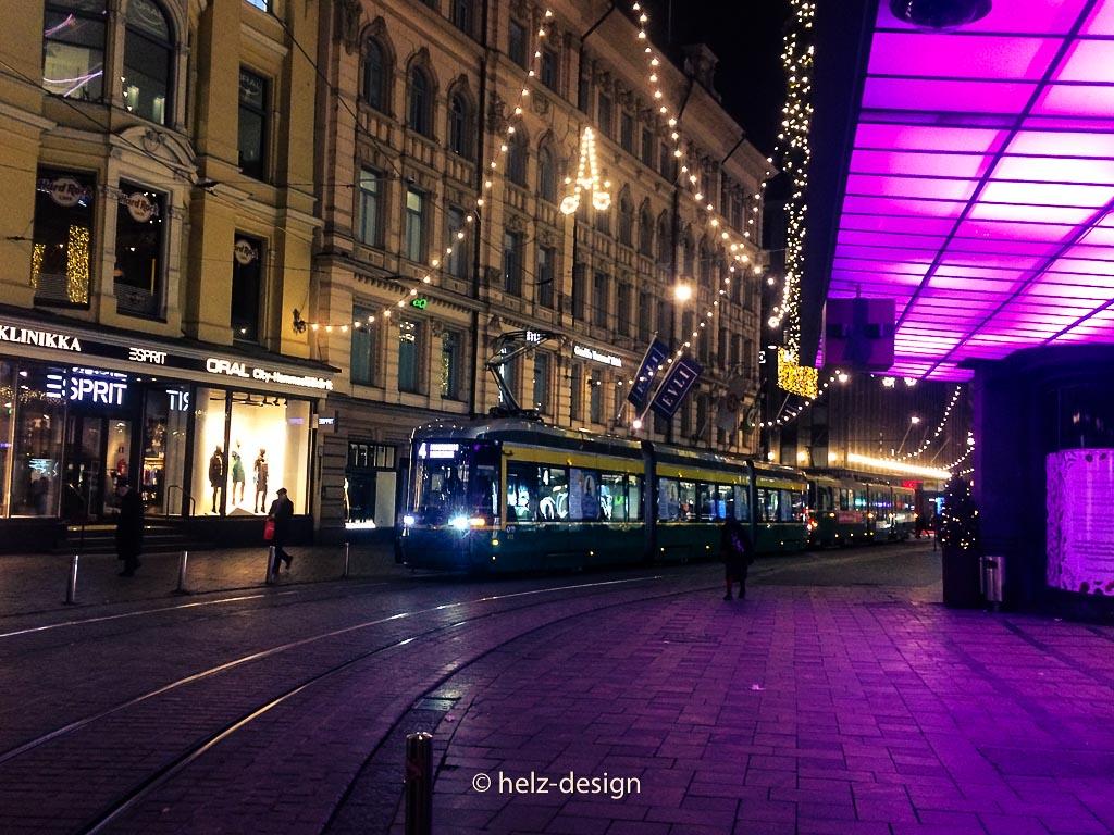 Tram an der Aleksanterinkatu
