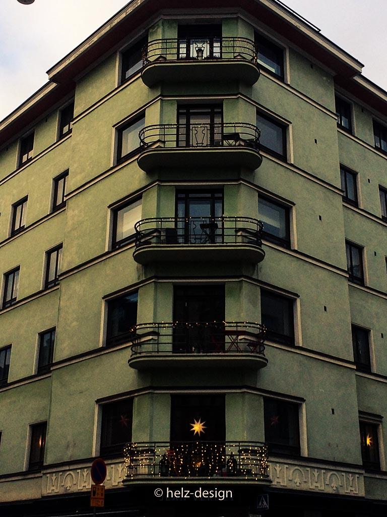 Geschmückte Balkone