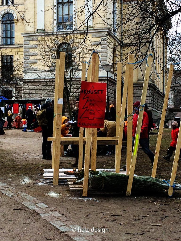 Kuuset –pieni 50 € / iso  70 €– Weihnachtsbäume: klein 50 € / groß 70 €