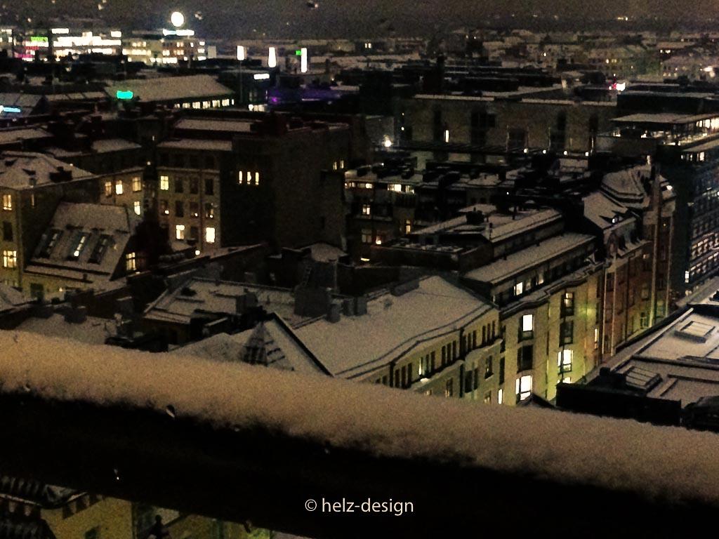 Man sieht so schön den Schnee auf den Dächern