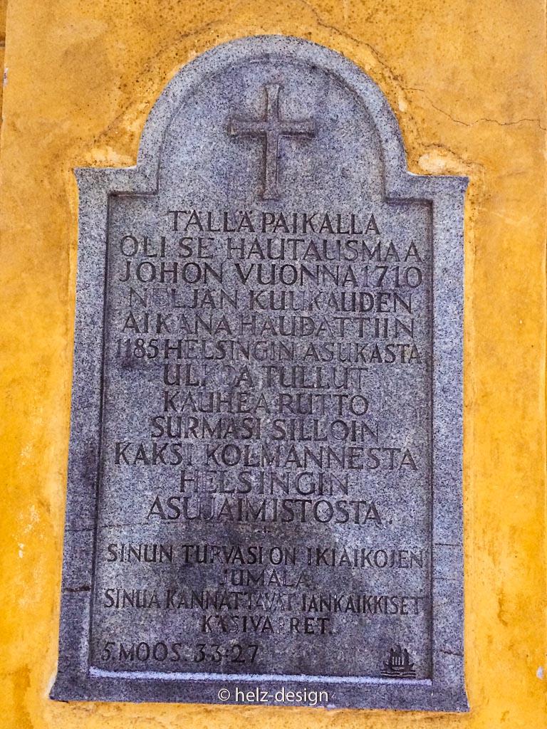 Torinschrift in Finnisch