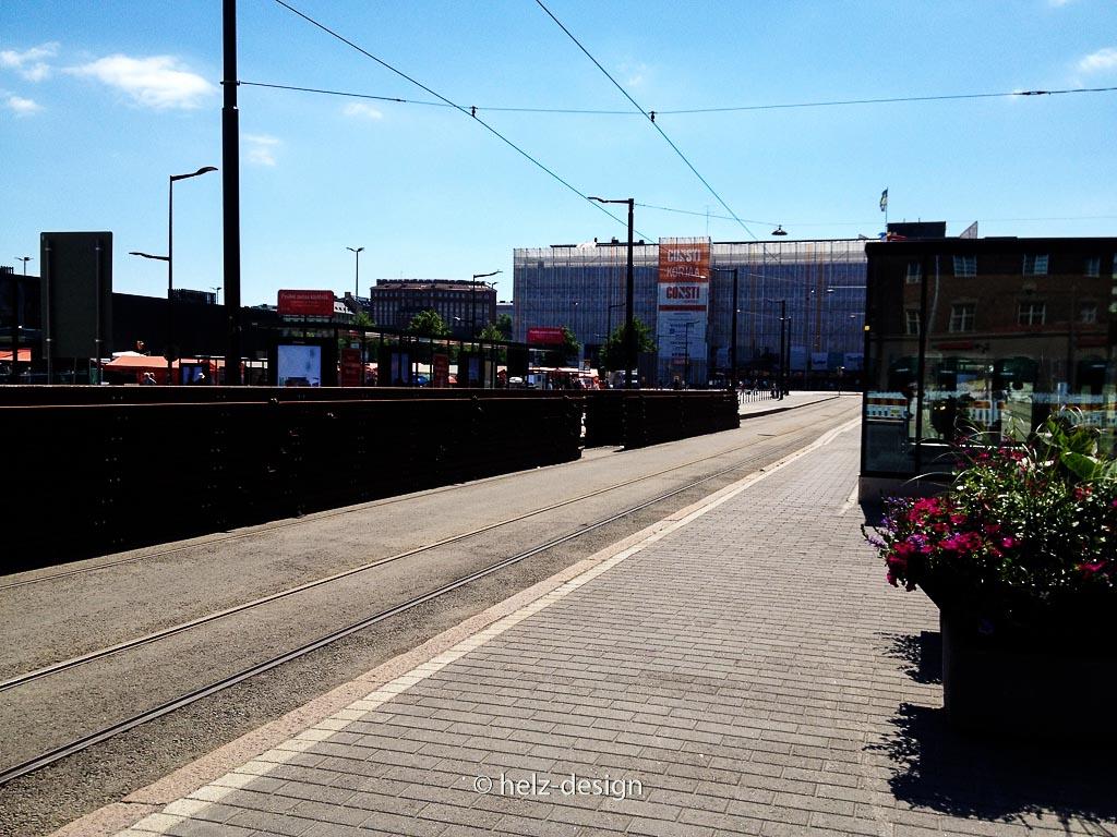 Lagernde Schienen am Hakaniemi