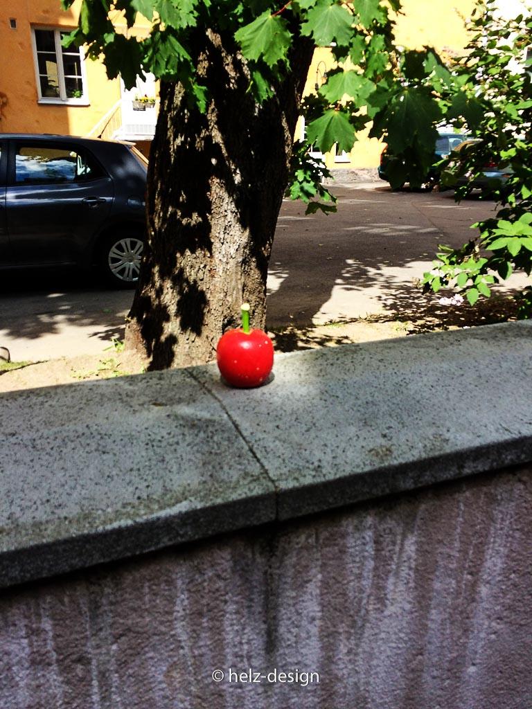 Schau auf diesen Apfel