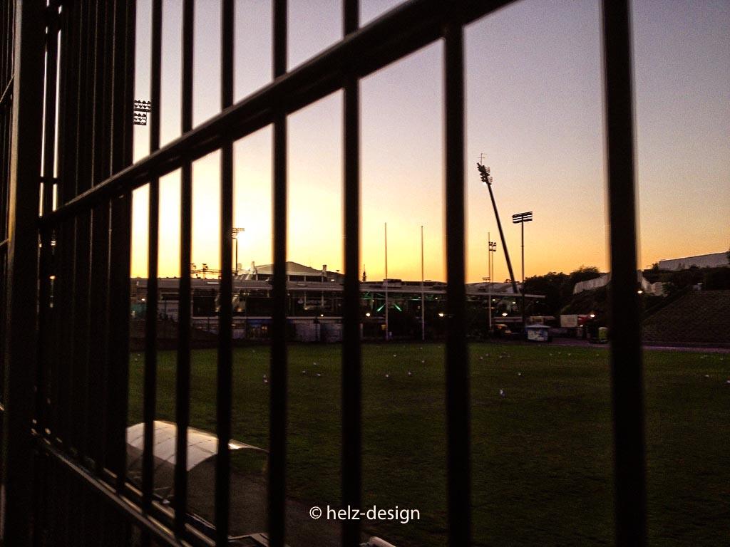 Blick zum Stadion