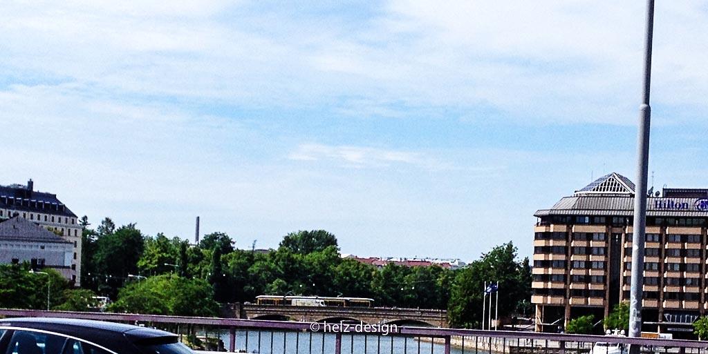 Auf der E75 Blick zur Pitkäsilta