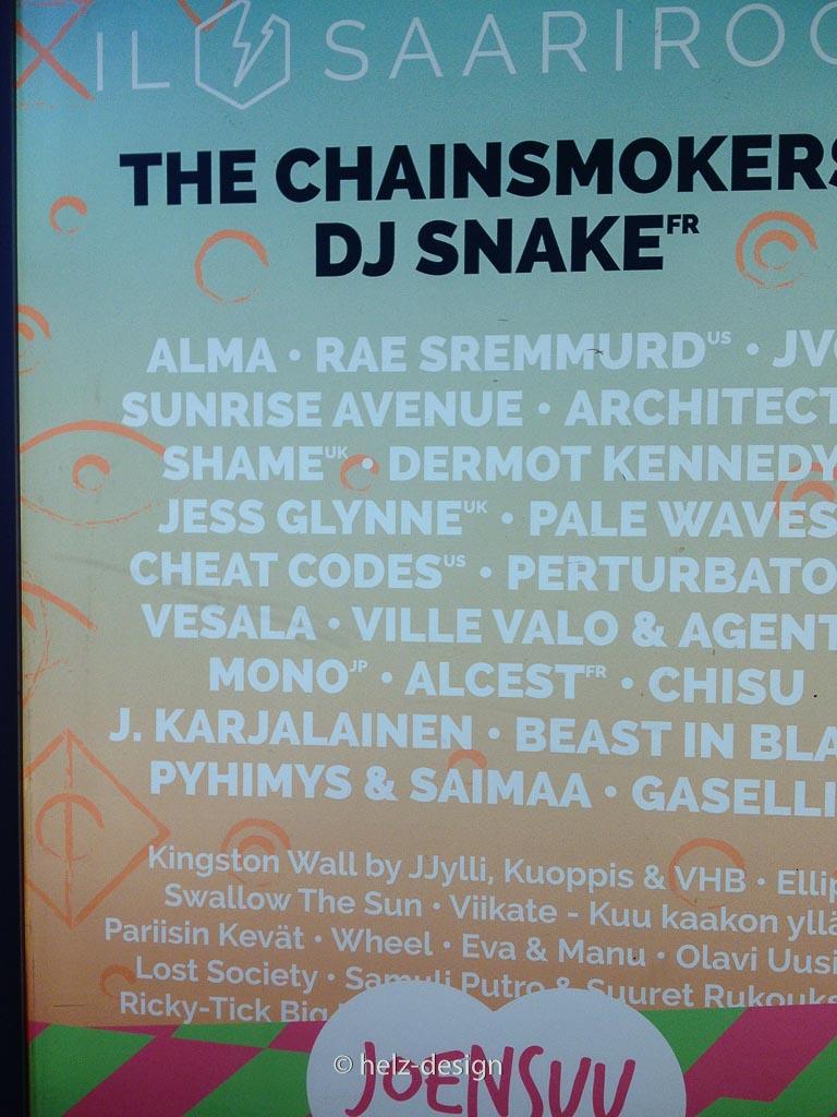 Yeah –meine Band spielt bei Ilosaarirock in Joensuu