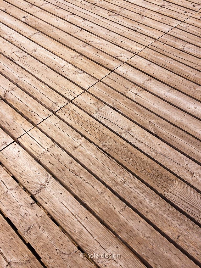 Holz am Holzpier