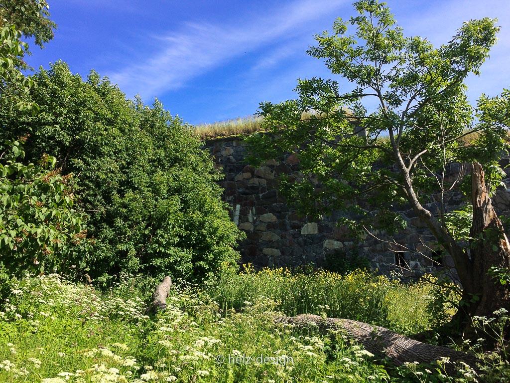 Festung mit Grasdach