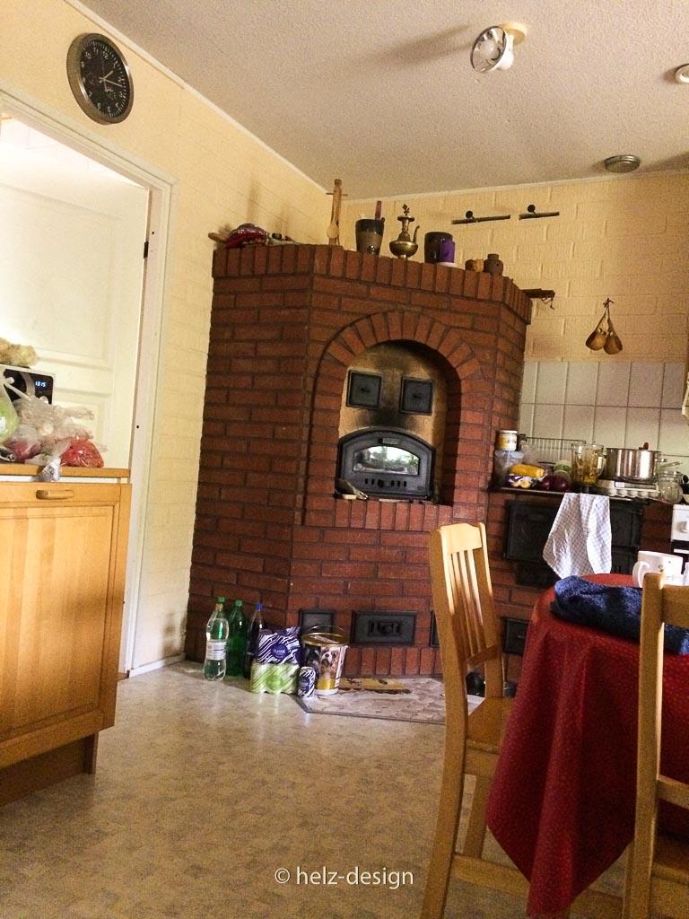 Ein geiler gemauerter Ofen in der Küche