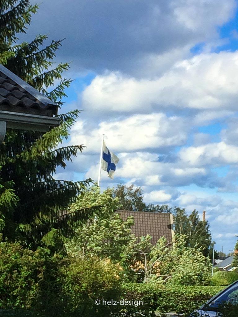 An der Flagge habe ich mir für den Rückweg orientiert