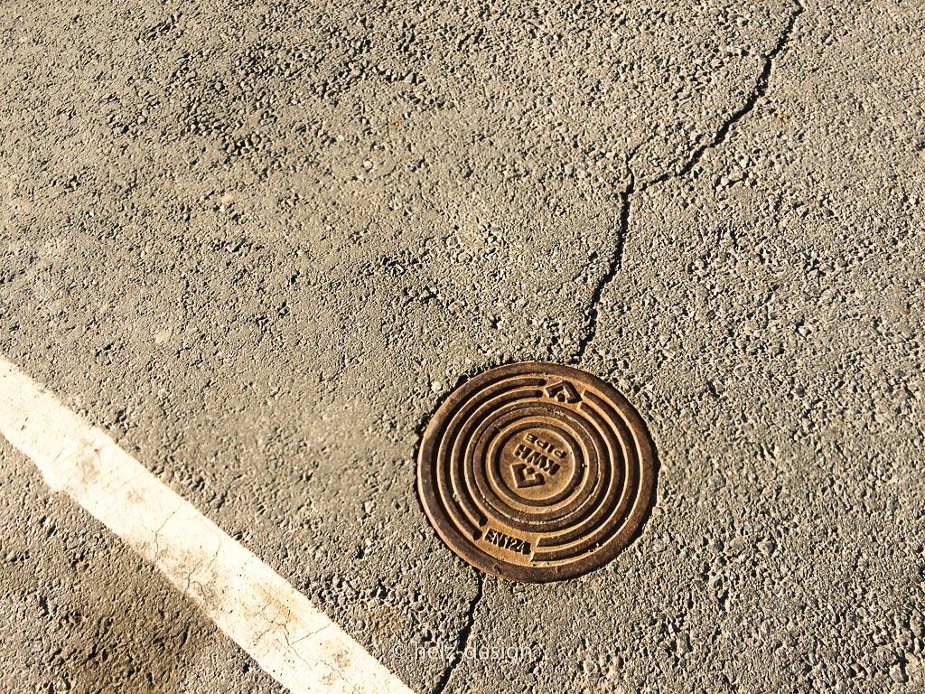 Metall in der Straße