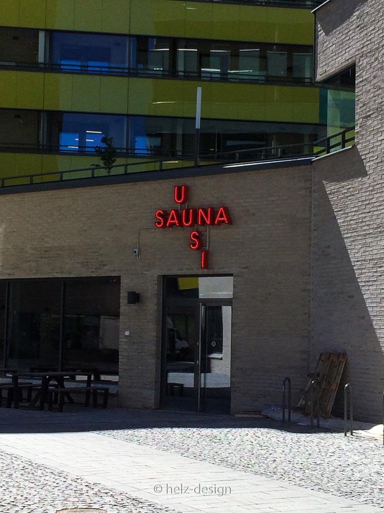 Uusi Sauna – die neue Sauna