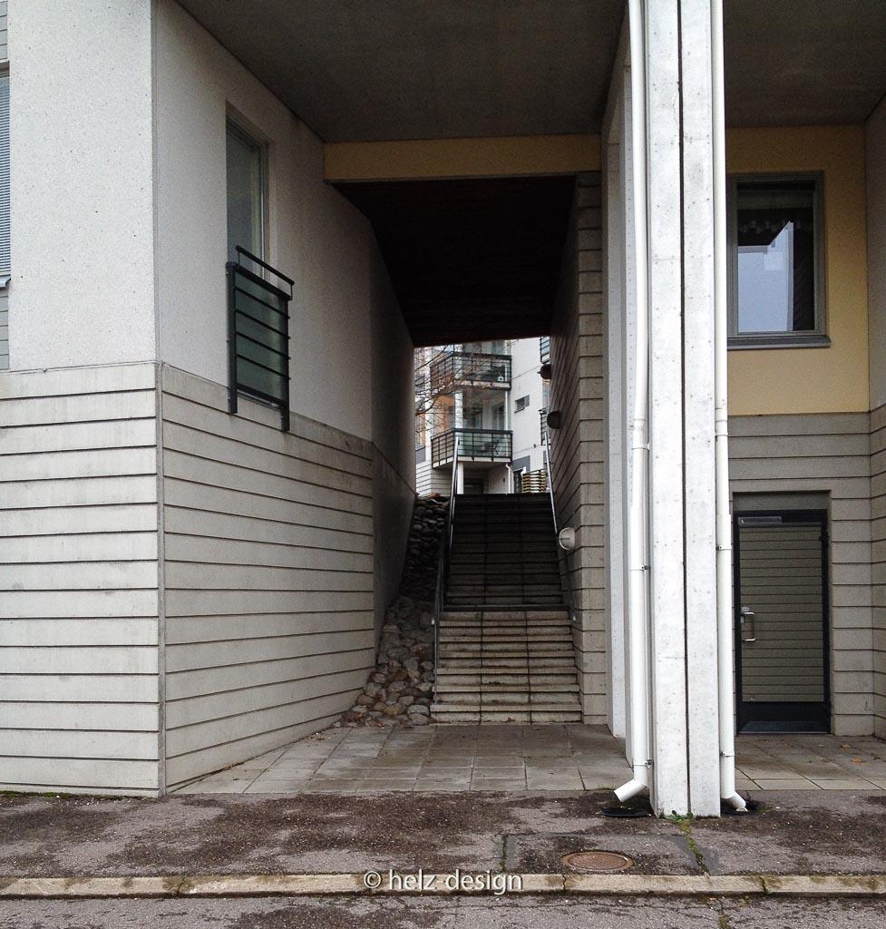 Treppenaufgang in den Innenhof