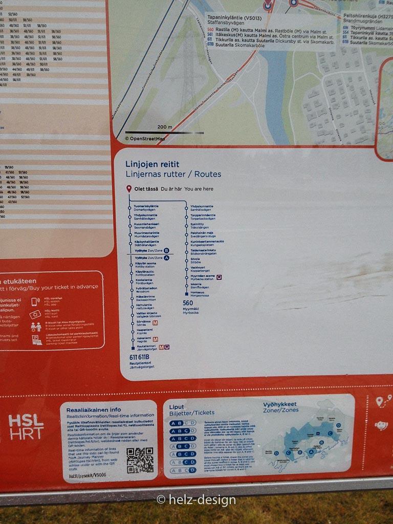 Streckenführung der Busse